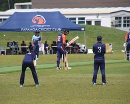 Ben Guild batting Vs Central Indians