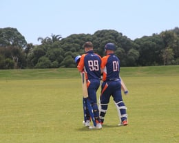 Andrew Goldsmith and Mark Divehall opening the batting in the clubs 1st Premier Game