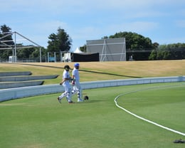 Aaron Barbour and Andrew Goldsmith opening the batting in round 2 of the McNaughton Trophy against Mount Maunganui